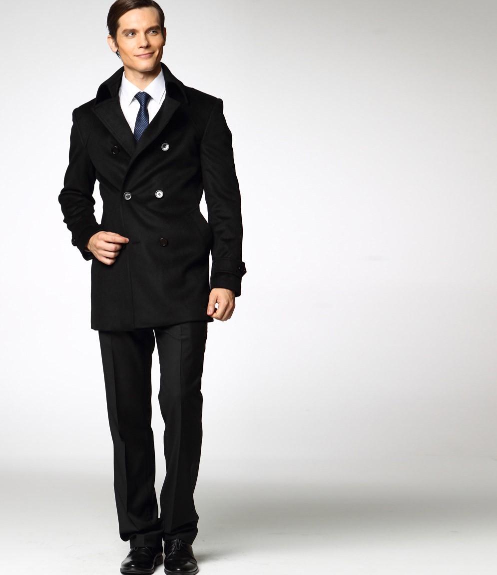 Manteau noir homme