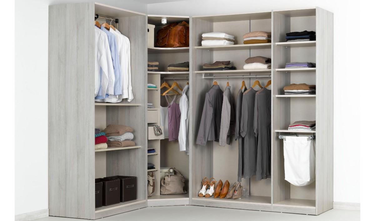 Un dressing d angle pour compléter votre appartement
