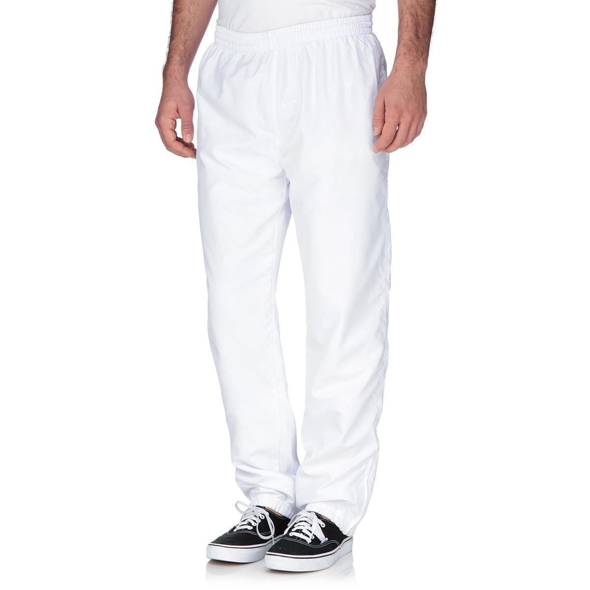 Pantalon en lin pour homme blanc id e for Pantalon de cuisine homme